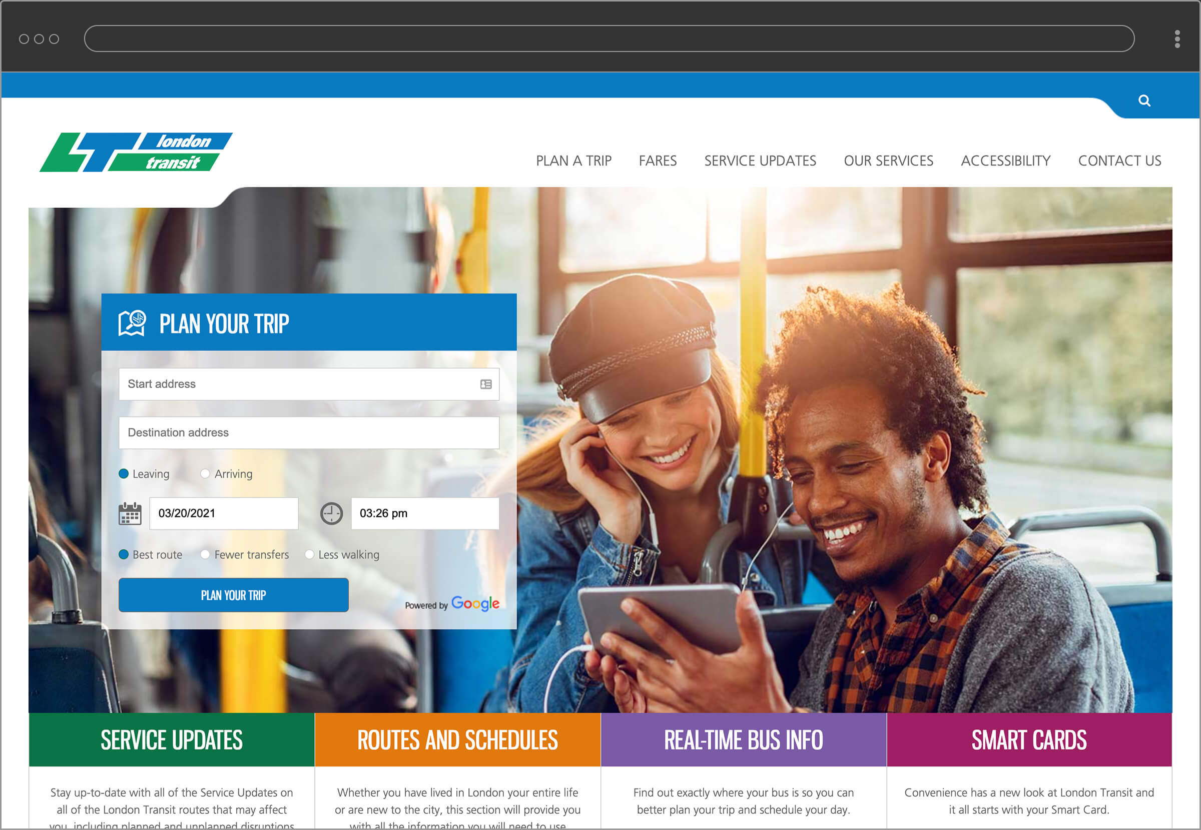 LTC website home page