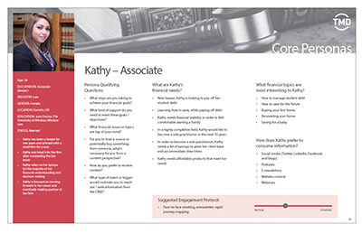 Persona example page for a female associate job role