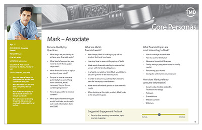 Persona example page for a male associate job role