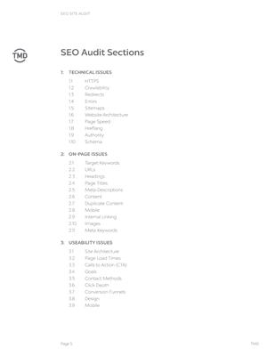 SEO Audit index page