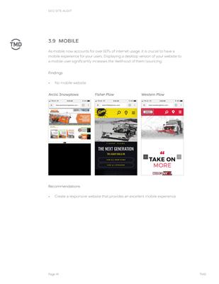 SEO Audit mobile comparison page